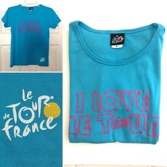 """TOUR DE FRANCE /""""I LOVE LE TOUR/"""" MENS T-SHIRT"""